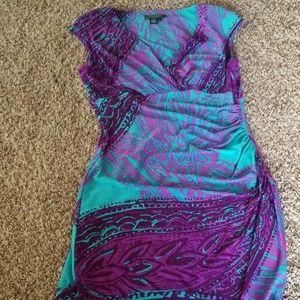 Lauren Ralph Lauren Sleeveless Wrap Dress 8